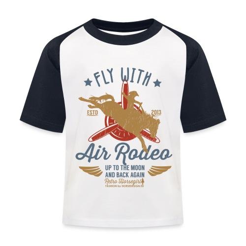 Flieg mit uns - Kinder Baseball T-Shirt
