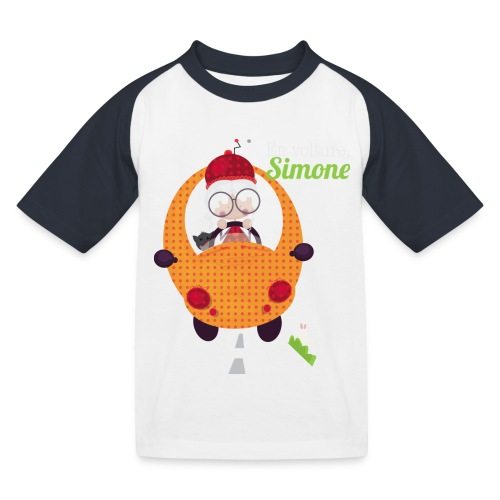 AUTOSIMONE - T-shirt baseball Enfant