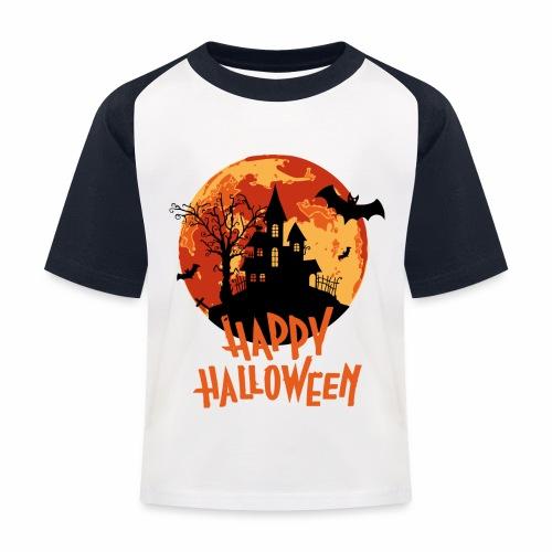 Bloodmoon Haunted House Halloween Design - Kinder Baseball T-Shirt