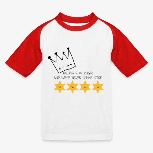 The Kings of Rugby (Kids) - Kids' Baseball T-Shirt