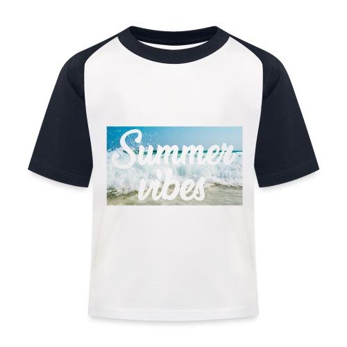 Summervibes - Kinder Baseball T-Shirt