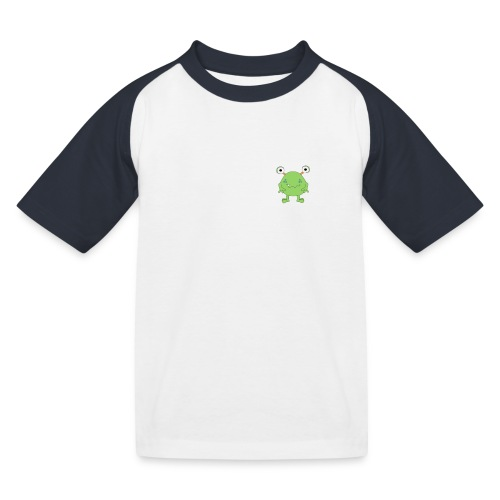 monster prent - Kinderen baseball T-shirt