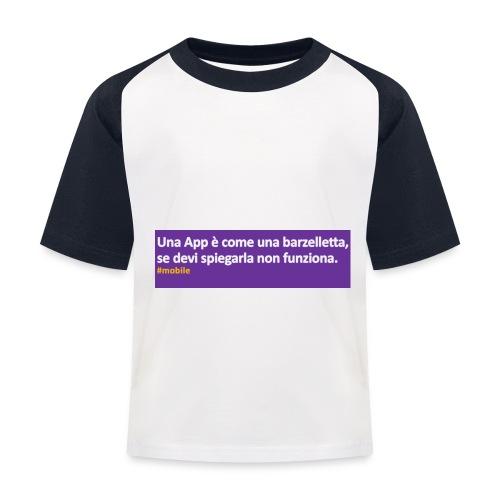 barzelletta - Maglietta da baseball per bambini