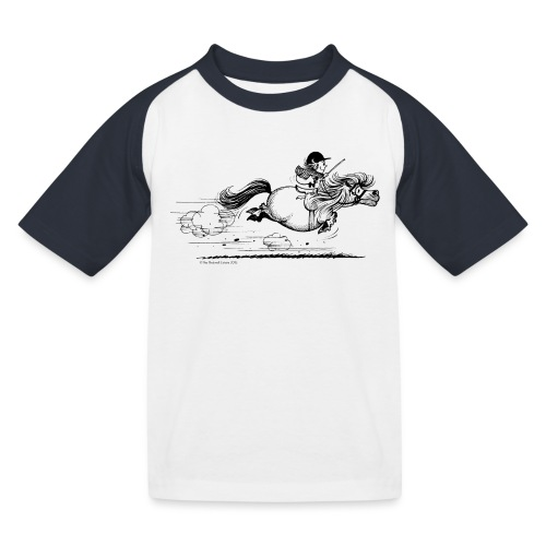 PonySprint Thelwell Cartoon - Kids' Baseball T-Shirt