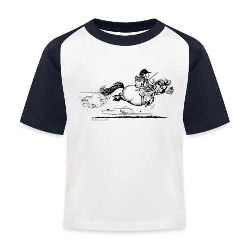 Thelwell Cartoon Pony Sprint - Kinder Baseball T-Shirt