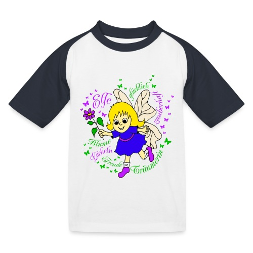 Elfe Traeume in Lila - Kinder Baseball T-Shirt