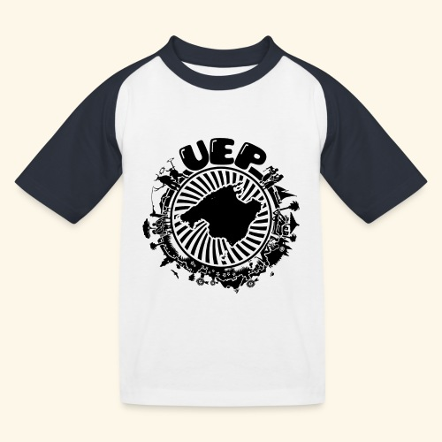 UEP white background - Kids' Baseball T-Shirt
