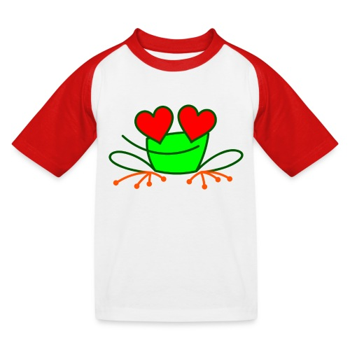 Frog in Love - Kids' Baseball T-Shirt