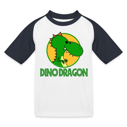 Dino Dragon - Baseball T-shirt til børn
