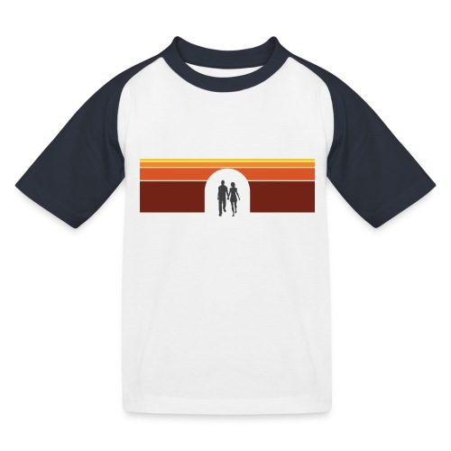 Couple in tunnel warm - Baseball T-shirt til børn