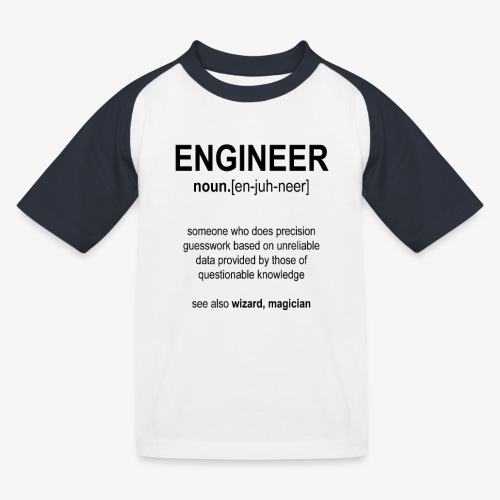 Engineer Def. 1 (Black) - T-shirt baseball Enfant