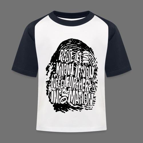 Fingerprint DNA (black) - Kinder Baseball T-Shirt