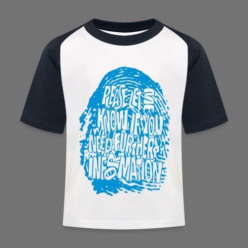 Fingerprint DNA (blue) - Kinder Baseball T-Shirt