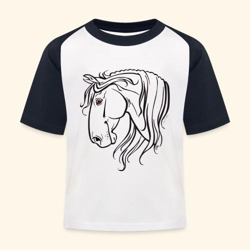 Cheval espagnol (noir) - T-shirt baseball Enfant
