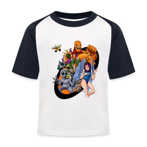 Startopia Character Emblem - Kids' Baseball T-Shirt