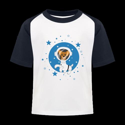 Kleiner Hund im Weltall - Kinder Baseball T-Shirt