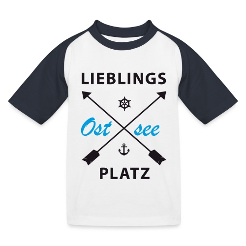 Lieblingsplatz Ostsee - Kinder Baseball T-Shirt