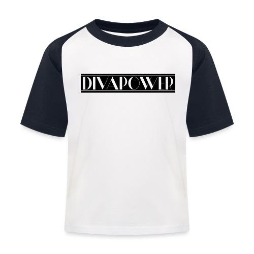 DIVAPOWER Frauenpower - Kinder Baseball T-Shirt