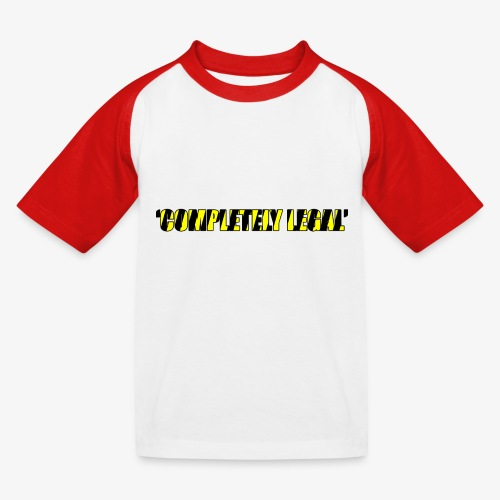 Hoodie Completely Legal - Kids' Baseball T-Shirt