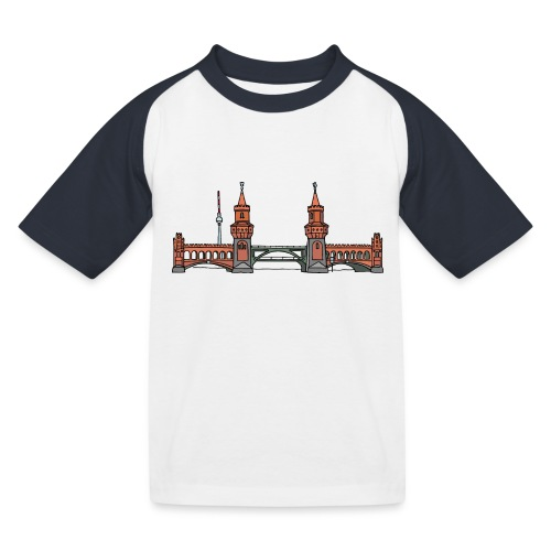 Oberbaumbrücke BERLIN - Kinder Baseball T-Shirt