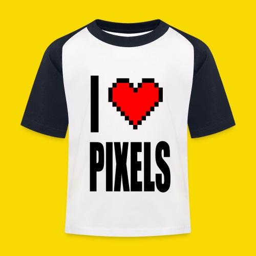I Love Pixels - Koszulka bejsbolowa dziecięca