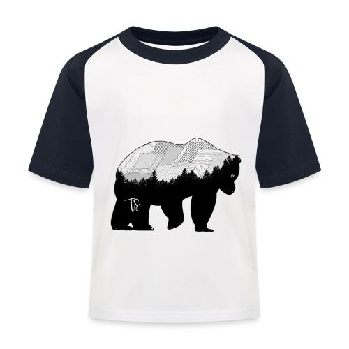Geometric Mountain Bear - Maglietta da baseball per bambini
