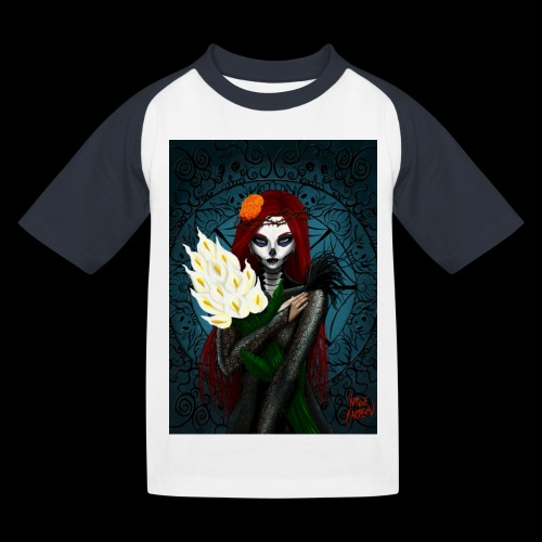 Death and lillies - Kids' Baseball T-Shirt