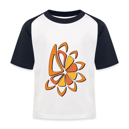 spicchi di sole caldo multicolore - Maglietta da baseball per bambini