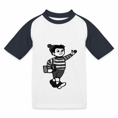 Cafe LillePer Logo BW - Baseball T-shirt til børn