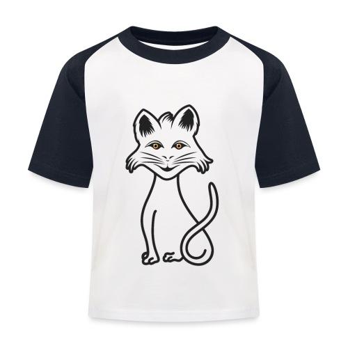 gatto nero - Maglietta da baseball per bambini