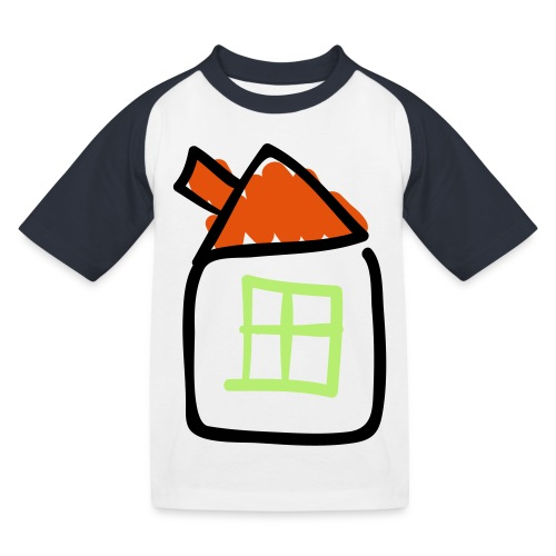 House Line Drawing Pixellamb - Kinder Baseball T-Shirt