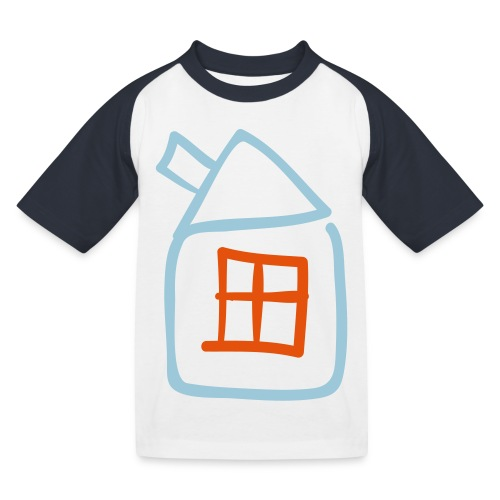 House Outline Pixellamb - Kinder Baseball T-Shirt