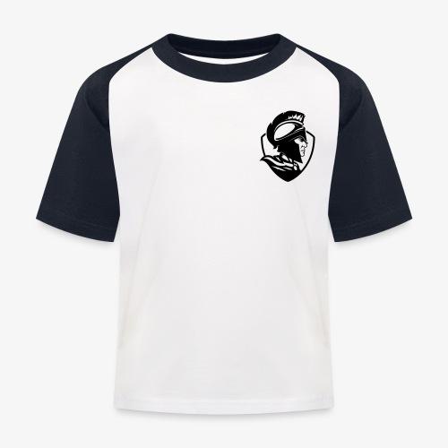 Logo svart - Baseboll-T-shirt barn
