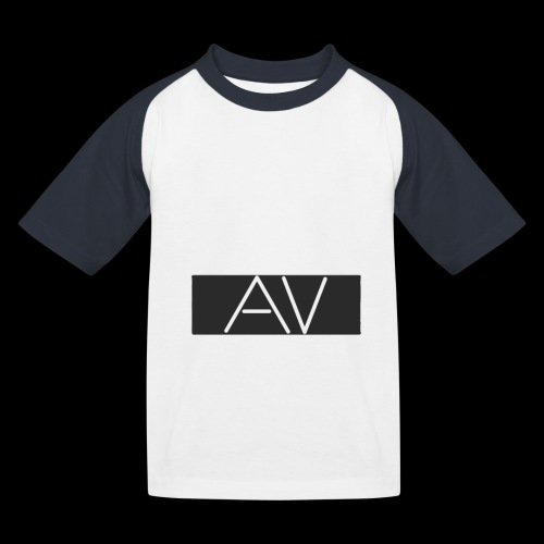 AV White - Kids' Baseball T-Shirt