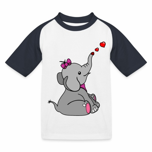 Elefant - Kinder Baseball T-Shirt