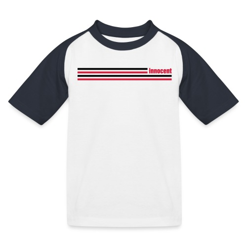 innocent stripes - Kinder Baseball T-Shirt