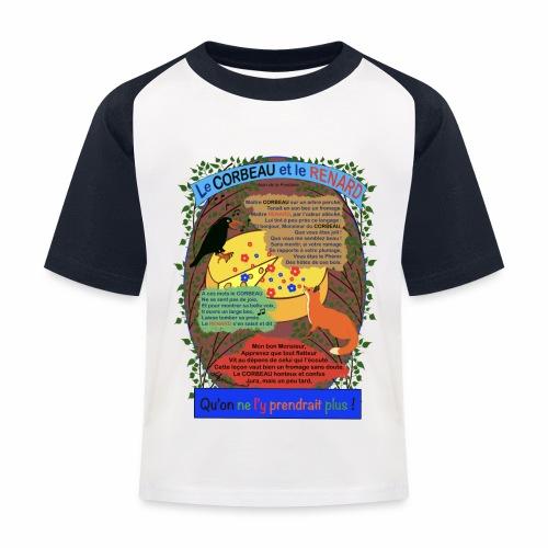 Le Corbeau et le Renard (Jean de la Fontaine) - T-shirt baseball Enfant