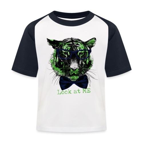 Tigerkopf_Look at me - Kinder Baseball T-Shirt