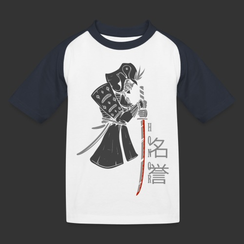 Samurai Digital Print - Kids' Baseball T-Shirt
