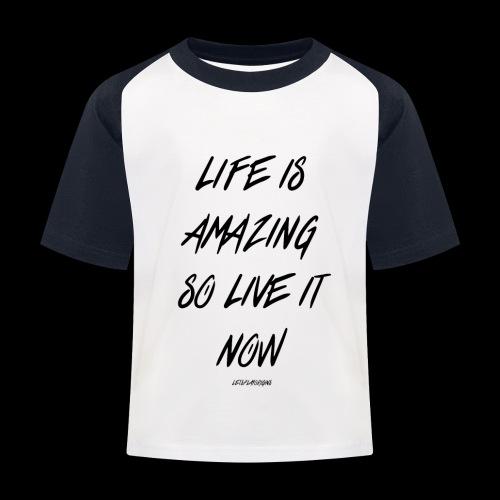 Life is amazing Samsung Case - Kids' Baseball T-Shirt