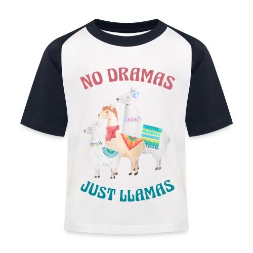 No Dramas Just Llamas - Kids' Baseball T-Shirt