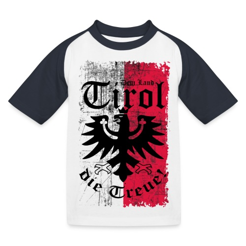Tirol - Kinder Baseball T-Shirt