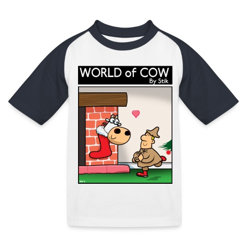 Santa's Farmer's Stocking - Kids' Baseball T-Shirt
