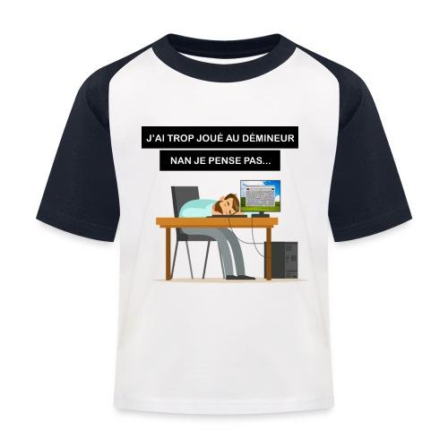 J'ai trop joué au démineur - T-shirt baseball Enfant