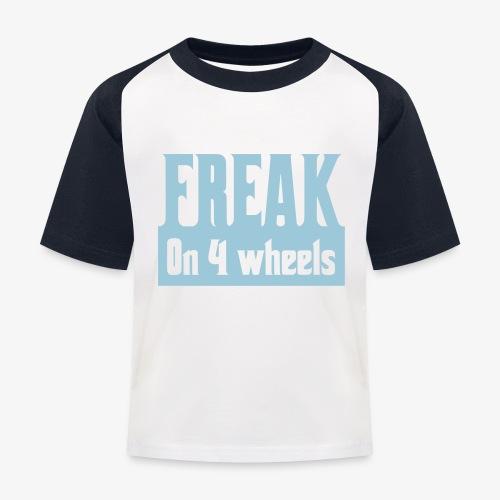 Gek op vier rolstoel wielen - Kinderen baseball T-shirt