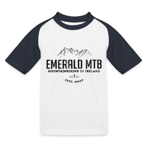 Emerald MTB Logo - Kids' Baseball T-Shirt