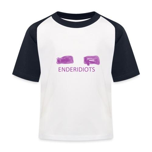 enderproductions enderidiots design - Kids' Baseball T-Shirt