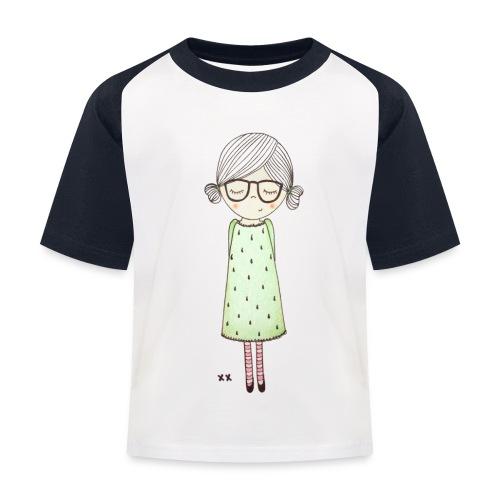 meisje met bril - Kinderen baseball T-shirt