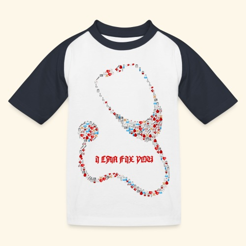 i will fix you stethoscope - Kids' Baseball T-Shirt