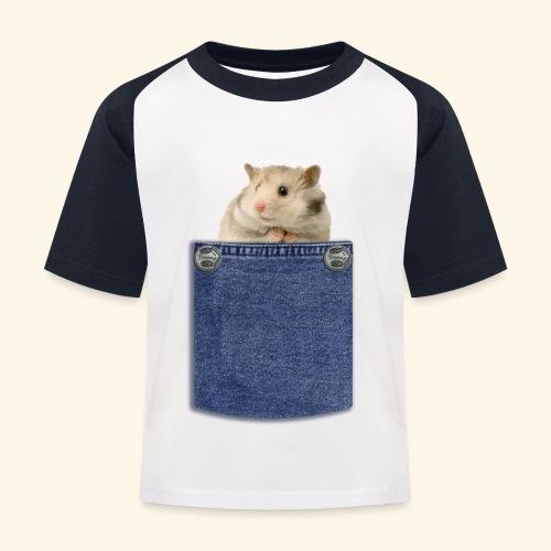 hamster in the poket - Maglietta da baseball per bambini